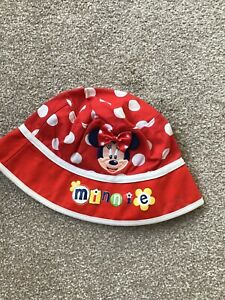 Minnie Mouse Baby Girl Sun Hat To Fit 18 Moths - 3 Years