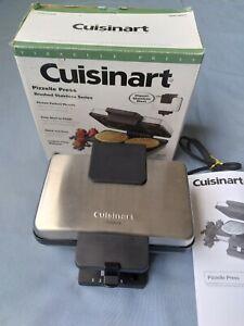 Cuisinart Pizzelle Press Maker, WM-PZ2  Brushed Stainless Steel, Nonstick Plates