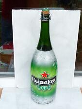 Heineken Large bottle glass 1.5 liters empty used rare 1500 ml beer cap stars