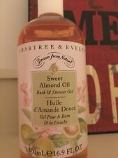 CRABTREE & EVELYN - SWEET ALMOND OIL BATH & SHOWER GEL - 16.9 FL OZ