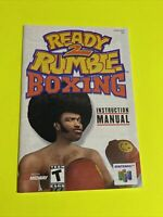 READY 2 RUMBLE BOXING - Instruction Booklet Manual Original Book Nintendo N64 🔥
