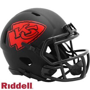 Black Eclipse Mini Football Helmet - NFL - Kansas City Chiefs