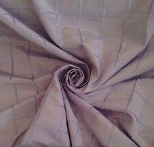 12 Metres Geometric Grid Design Curtain  Fabric In Lavender
