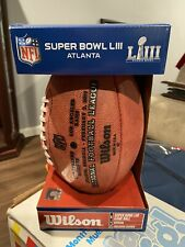 NEW Wilson Duke NFL Super Bowl LIII 53 Official Game Ball Football PATRIOTS