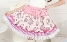 Cosplay Lolita Sweet Love Lolita Cute Tea Party Style Skirt with lace Macaroon
