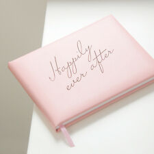 Pink Leather 'Happily Ever After' Wedding Guest Book, Weddings (OHSO054SP -LR)