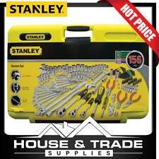 """Stanley Socket Tool Set 156 Piece 1/4"""", 3/8"""", 1/2"""" Dr METRIC/SAE 71-609"""