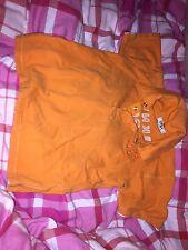Dkny orange airtex haut enfant garçon 3 ans manches courtes à col polo shirt