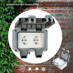 Wandsteckdose Wasserdichte Staubdicht IP66 für Außenbereich Steckdose Box