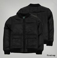 Boys Firetrap Full Zip Quilted Ribbed Bomber Jacket Sizes from 7 to 13