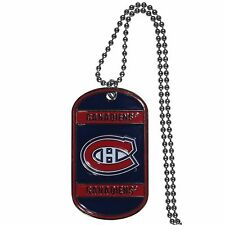 """montreal canadiens tag nhl hockey necklace dog tag 26"""" chain"""