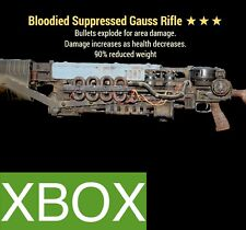 BE 90 GAUSS RIFLE BLOODIED EXPLOSIVE LEGACY FO 76 XBOX WEAPON REDUCED WEIGHT