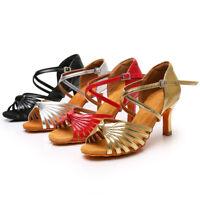 New Ballroom Latin Tango Salsa Heeled Dance Shoes Women/Girls/Ladies Size 34-42