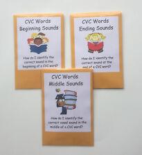 3 Teacher Made Literacy Centers Games Cvc Sounds Beginning Middle End Pack