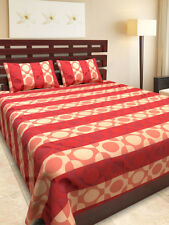 Premium Quality Cotton & Silk Double Bed sheet with 2 Pillow Covers - Nakshi07