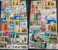 Worldwide Stamp Lots: Romania MNH - 200 Different Stamps in Full Sets