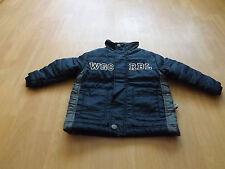 Jungen Übergangsjacke, dick, dunkelblau, Größe 98/104, mit 2 Taschen