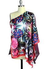 Custo Barcelona Women Davinia Lucinda Kaftan Top Blouse One Size Multicolor