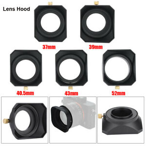 52mm/43mm Camera Square Lens Hood Shade for DV Camcorder Digital Video Cameras
