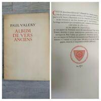 Paul Valéry Album de Vers Anciens /A. Stols Maestricht 1926 /No 270 Pannekoek