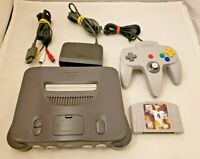 Nintendo 64 N64 Console Bundle w/ OEM Controller & Game - TESTED WORKING!
