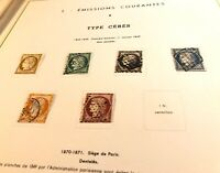 Collection timbres de France 1849 à 1945 dt n°1à6, 33, caisses, orphelins, PEXIP