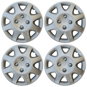 """BRAND NEW Hub Caps 4 PC Set ABS Silver 13"""" Inch Wheel Cover / Cap Covers"""