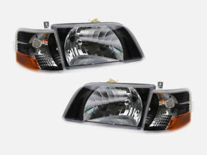 VOLVO VNL 300 VNM 200 SERIES 2000-2011 BLACK HEAD LIGHTS LAMP CORNER LIGHTS
