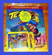 PANINI TEX L'EROE DEL WEST STARTER PACK ALBUM + 3 BUSTINE FIGURINE + MAXI CARD