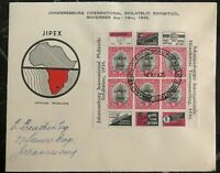 1936 Johannesburg South Africa First Day Cover FDC Jipex Philatelic Exhibition B