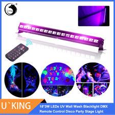 54W 18 LED UV-BAR Bühnenlicht Schwarz Licht Lampe Leuchte Bar Klub Party