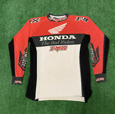 Vintage Honda Motocross Jersey Fox Racing Dirt Bikes Sz L The Red Riders