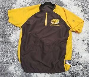 Temecula Valley Golden Bears BASEBALL Windbreaker Shirt 1/4 Zip Men XL Logo TVHS