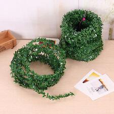 3.75M Garland Green Leaf Iron Wire Artificial Flower Vine Rattan For Wedding Hot