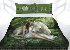 Anne Stokes Doona Cover Quilt Bedding Bed CLEARANCE QUEEN KING Pure heart Unicon