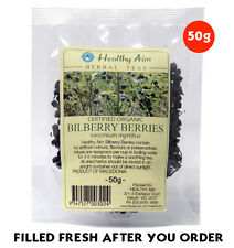 Certified Organic BILBERRY BERRIES ~ 50g HERBAL TEA Premium ~ Dried Herbs