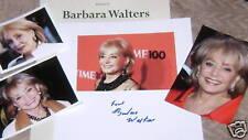 BARBARA WALTERS Autographed Photo & Photos REAL HOT