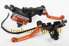 "7/8"" Orange Brake Master Cylinder Reservoir Levers Set For KTM 105SX 65XC"