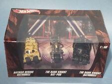 HOT WHEELS 1:50 SCALE BATMAN TRILOGY BATMOBILE BOXED SET OF THREE! NM!