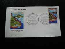 MADAGASCAR -enveloppe 23/7/71- hotel palm beach nossi be - yt n° 490 -(cy4)(Y