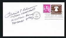 Frederick Boots Blesse (d. 2012) signed autograph First Day Cover Korean War Ace