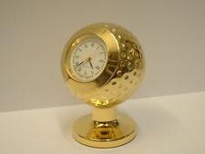 MINATURE CLOCK GOLDPLATED ON BRASS GOLF BALL WITH CLOCK