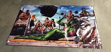 Weider gym equipment bar poster bench press she Hulk banner figure crossfit B46