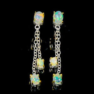 Beautiful luxury Opal Earrings Silver 925 Sterling   /E51726
