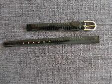 Watch Band Golden Buckle -rare 9mm Black Lizard Ladies Vintage