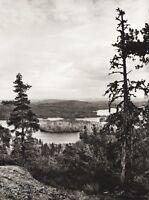 1934 Vintage 11x14 FINLAND Paijanne Forest Wilderness Lake Landscape Photo Art