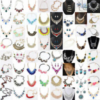 Fashion Jewelry Women Pendant Choker Chunky Statement Chain Bib Necklace