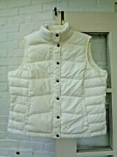 LANDS' END WOMEN'S CREAM DOWN QUILTED PUFFER VEST XL PETITE