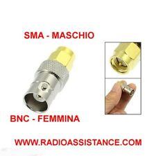 ADATTATORE DA MASCHIO SMA A FEMMINA BNC ( per radio baofeng - wouxun - tyt )