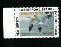 US Duck New Jersey Stamps # 11b XF Governors edition OG NH Scott Value $72.50